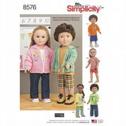 "8576 Simplicity Pattern: 18"" Unisex Doll Clothes"